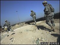 US soldiers in Baghdad's Hurriyah neighbourhood (file image)