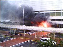 Fire at airport