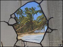 Banksy's painting on Israel's security barrier