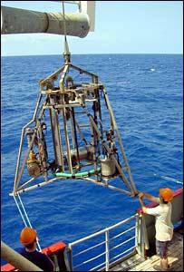 Los cient�ficos utilizarán un taladro para obtener muestras del manto terrestre.