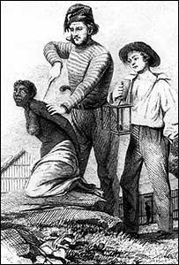 Marcación a hierro de una esclava en Colombia (Gentileza: Archivo General de la Nación de Colombia)
