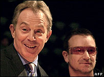 Tony Blair and Bono