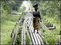 Oil pipelines in Nigeria