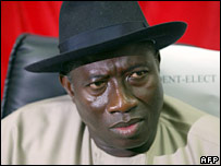 Mr Jonathan, Nigerian Vice-President elect