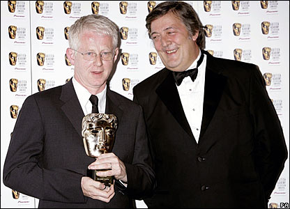Richard Curtis with fellow bookworm Stephen Fry (BBC)