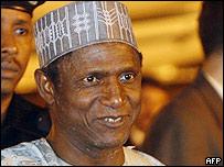 Nigerian president-elect Umaru Yar'Adua