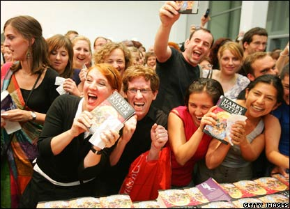 A crowd of Harry Potter fans in Germany