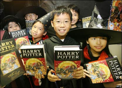 Young Harry Potter fans in Hong Kong