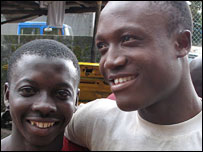 Former Liberian child soldiers