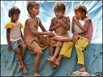 Indian girls in at slum in Bangalore