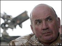 British General Sir Richard Dannatt in Afghanistan