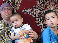 Zulfia with two of her children.