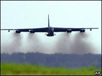 A B-52 bomber at Barksdale Air Force Base, Louisiana. File pic