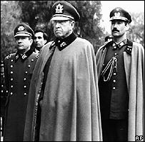 Pinochet junto a otros generales