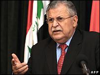 الرئيس العراقي جلال طالباني