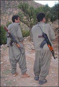 مقاتلان من حزب العمال الكردستاني
