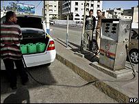 Pompa bensin di Gaza
