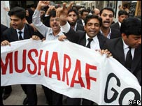 Lawyers protest in Islamabad