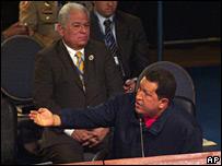Mr Chavez at the summit, 10 November 2007