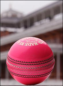 One of the new pink balls
