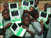Children with XO laptops