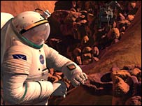 Artist's impression of astronaut on Mars. Image: Nasa