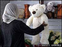 A teddy bear on sale in Sudan