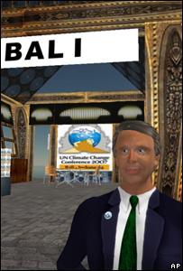 Konperensi iklim Bali di Second Life