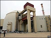 Bushehr nuclear reactor, photographed in April 2007