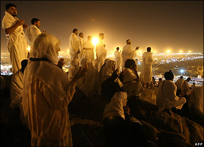 Pilgrims on Mount Arafat