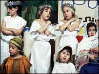 Children's nativity play