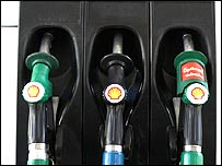 BBC News Shell gas pump image