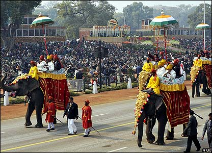 Elephants take part in India's Republic Day parade in New Delhi