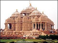 Swaminarayan Akshardham Temple, New Delhi; said to be the world's largest Hindu temple