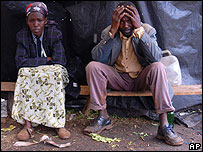A displaced couple in Kericho, western Kenya