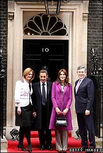 Sarah Brown, Nicolas Sarkozy, Carla Bruni dan Gordon Brown