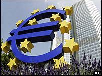 Banco Central Europeo en Frankfurt, Alemania.