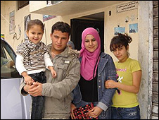 Mohammed and Maysa with relatives
