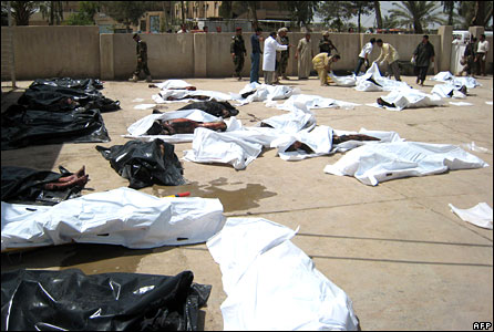 Aftermath of bombing in Baquba on 15 April 2008