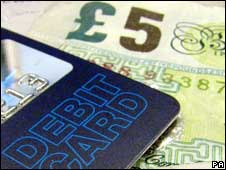 Debit card and cash