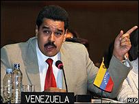 Nicolás Maduro, canciller de Venezuela
