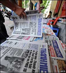 A reader looks at the Thanh Nien daily on 13 May 2008