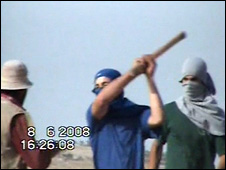 Video of alleged attack near Susia (08 June 2008) (Footage courtesy of B'Tselem)