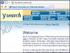 Y search screenshot (BBC)