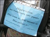Inmigrantes piden legalización de su situación en Francia, AP