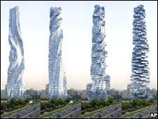 Revolving skyscraper in Dubai - BBC image