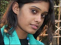 Martina Roy, estudiante de la escuela Mater Dei, en Delhi
