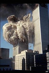 Avión choca una de las torres del World Trade Center, Sept 11 de 2001, AP