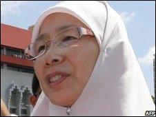 Anwar's wife Wan Azizah Wan Ismail