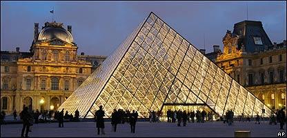 Vista general del museo del Louvre, un ejemplo de arquitectura nueva y vieja
